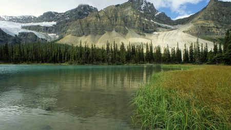glacial lake, alberta, canada