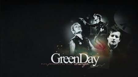 green day, band, letters