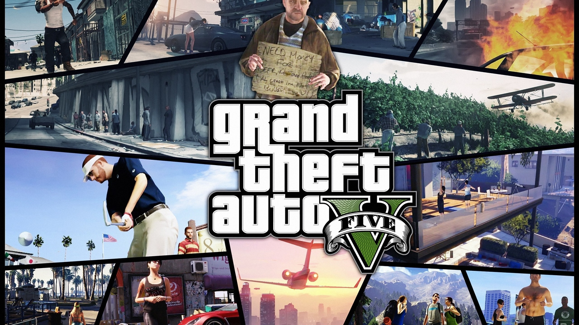 download wallpaper 1920x1080 gta, grand theft auto 5, photos, shots