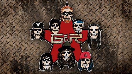 guns n roses, star, skulls