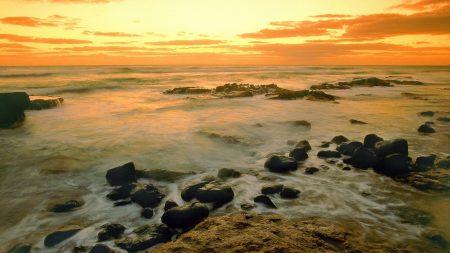 hawaii, morning, sea