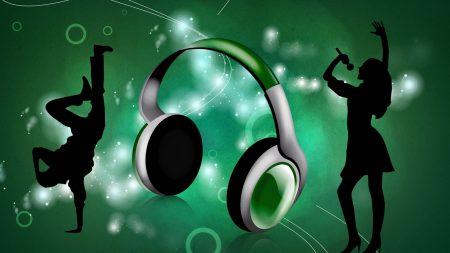 headphones, boy, girl