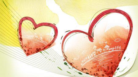 heart, couple, love