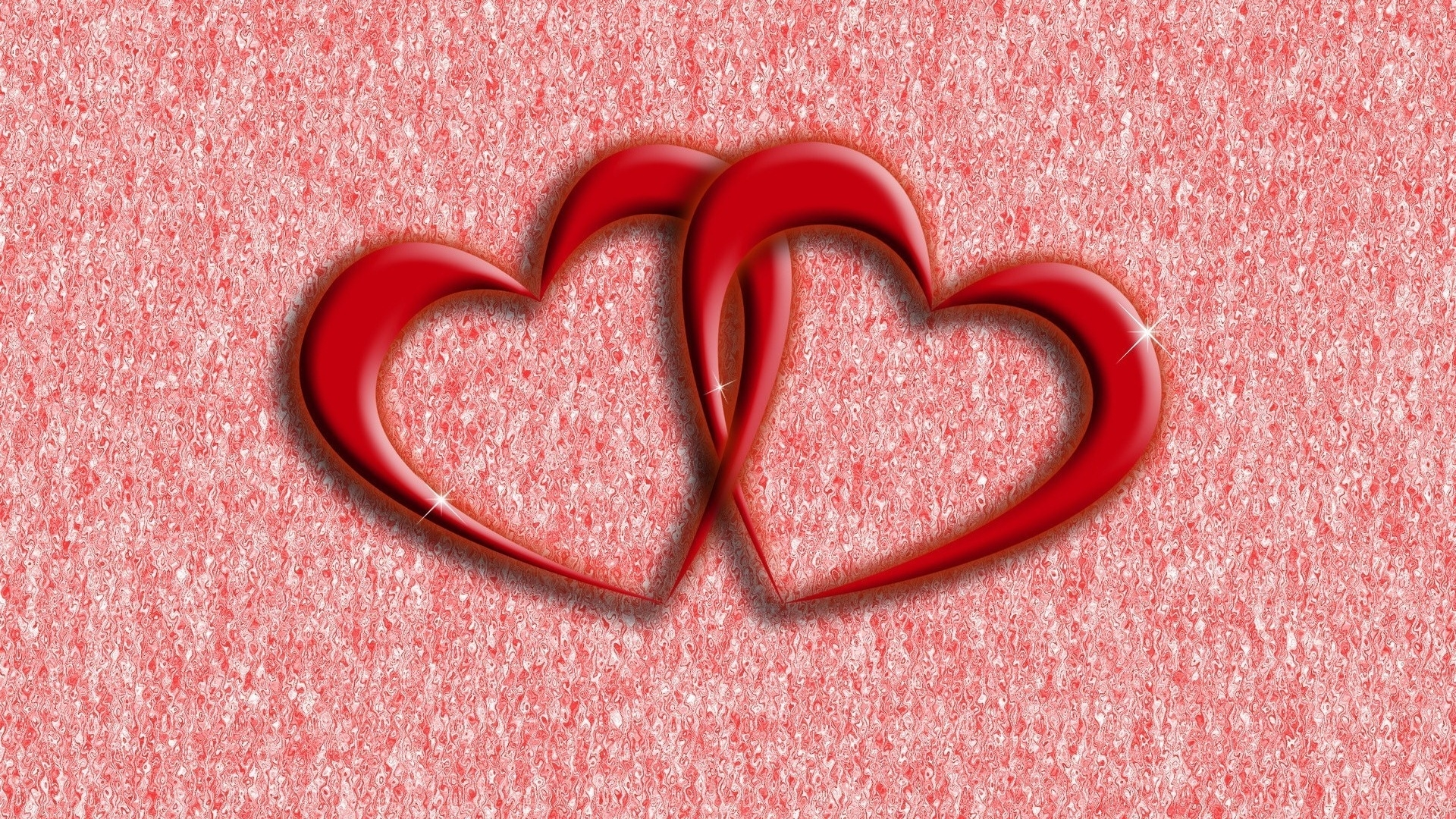 Download Wallpaper 1920x1080 Heart Pair Red Love Full HD 1080p