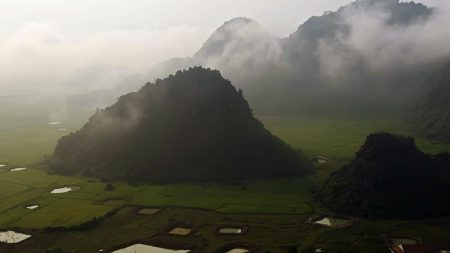 height, fog, mountains