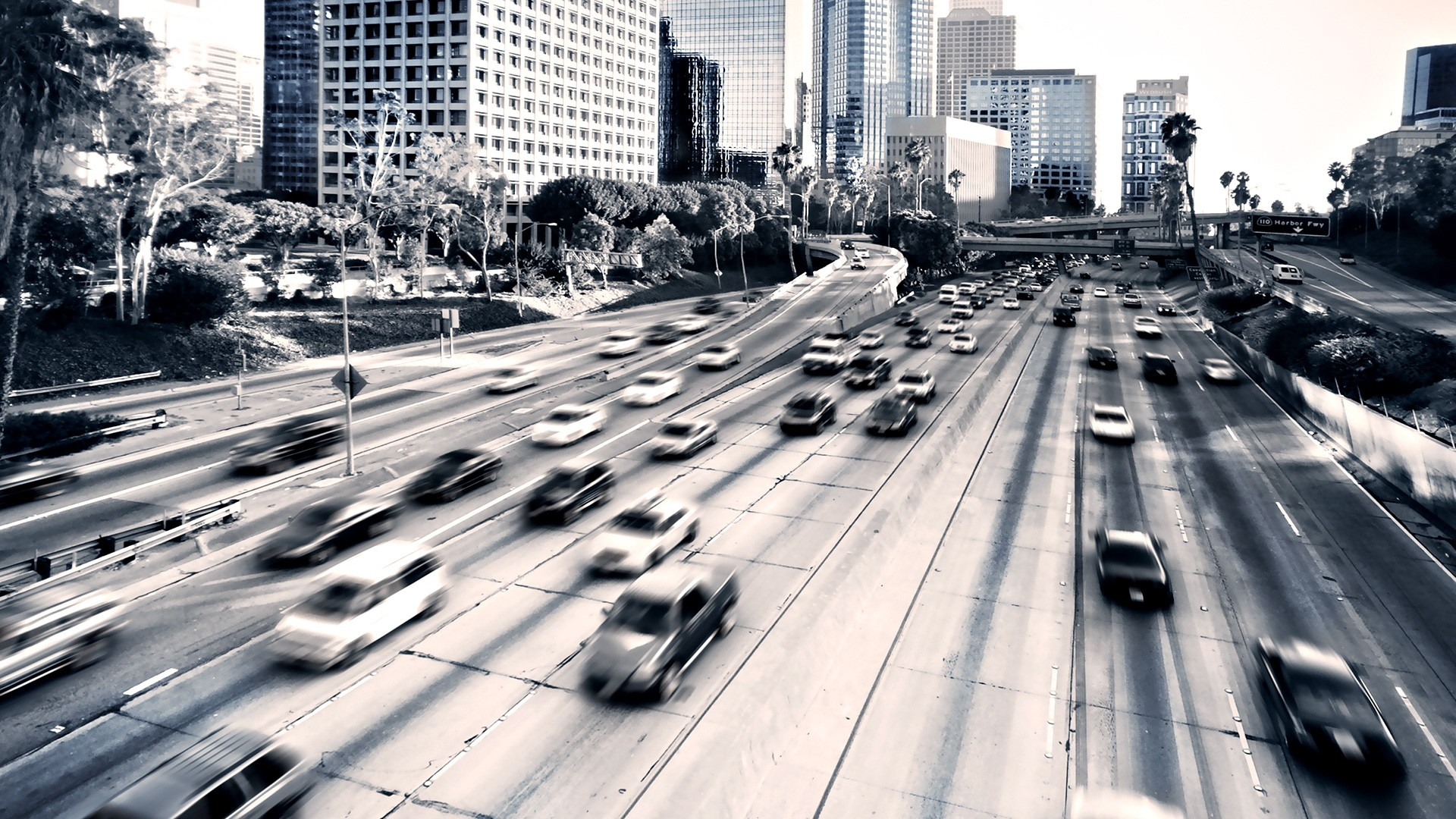 Download Wallpaper 1920x1080 Highway, Cars, City, Traffic