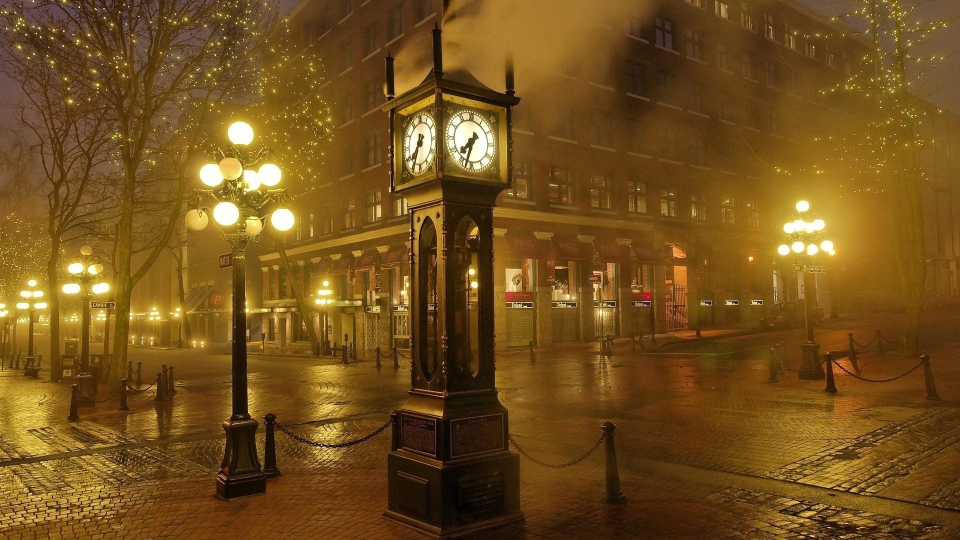 Download Wallpaper 1920x1080 Hours Night Lights Light Street