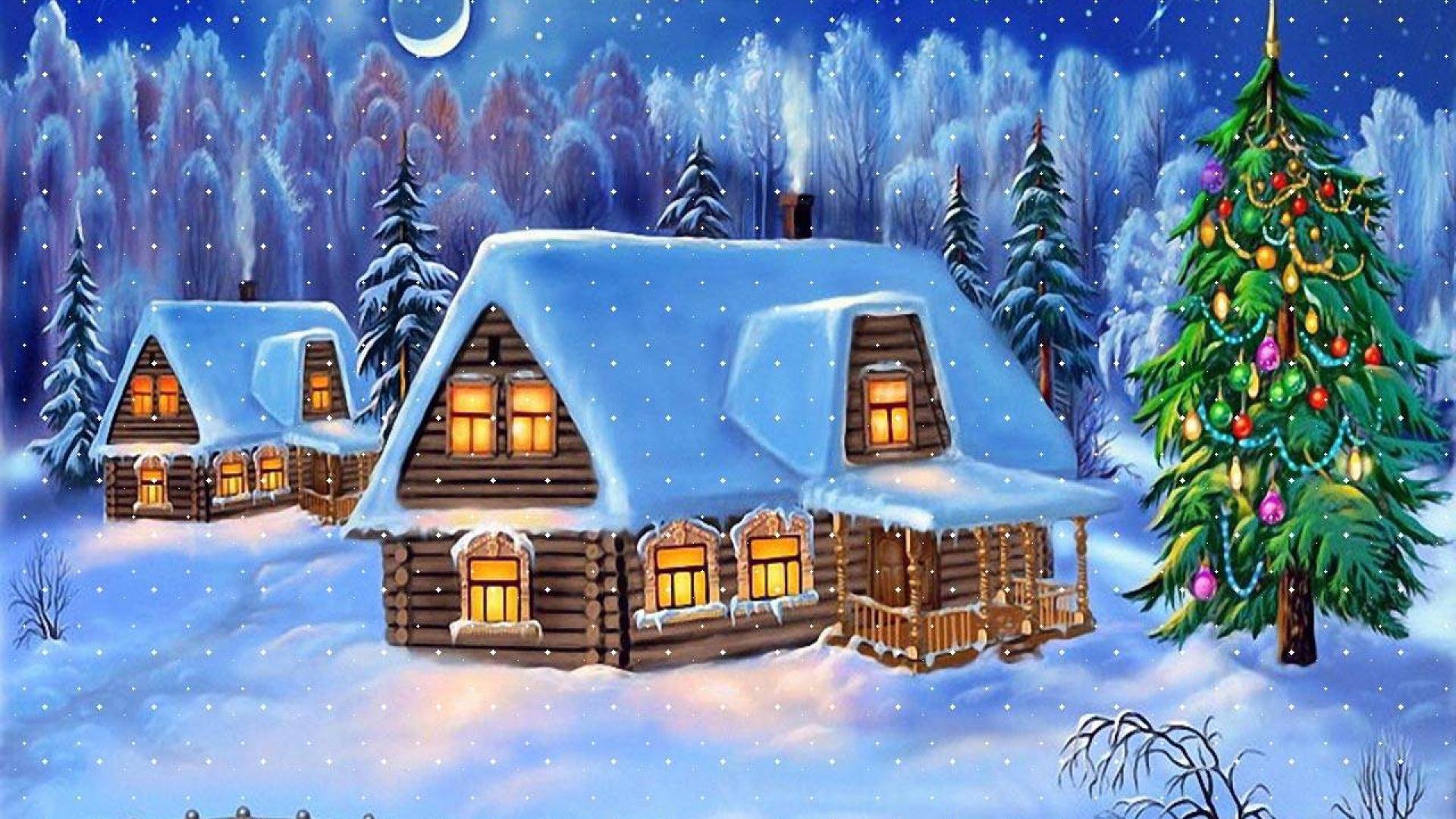 Great Wallpaper Minecraft Christmas - house_fur-tree_snow_winter_new_year_bridge_christmas_card_1000_1920x1080  Gallery_43596.jpg