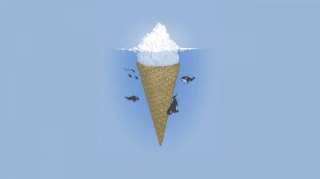 ice-cream, dolphin, sea
