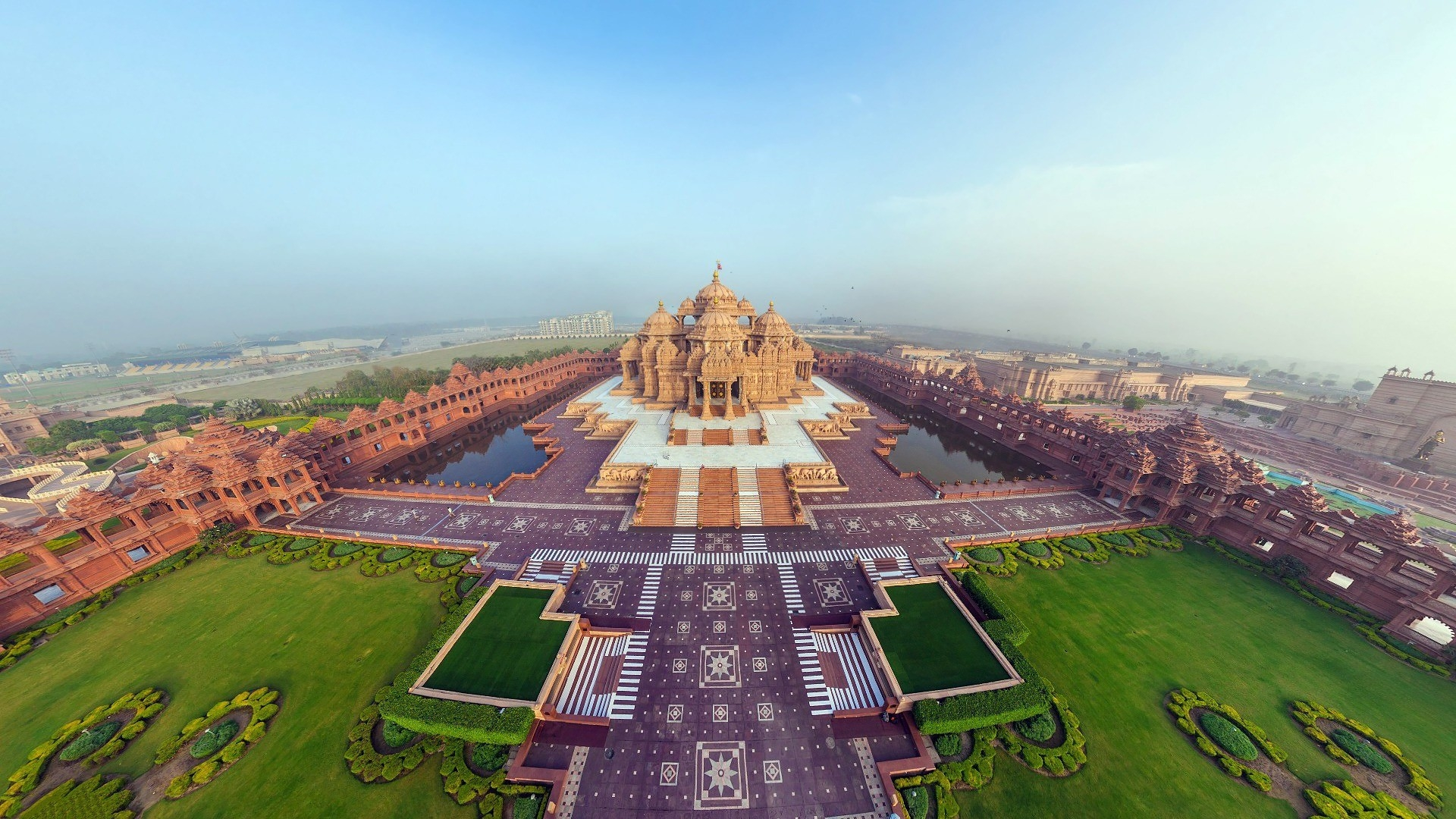Download wallpaper 1920x1080 india akshardham temple beautiful india akshardham temple beautiful thecheapjerseys