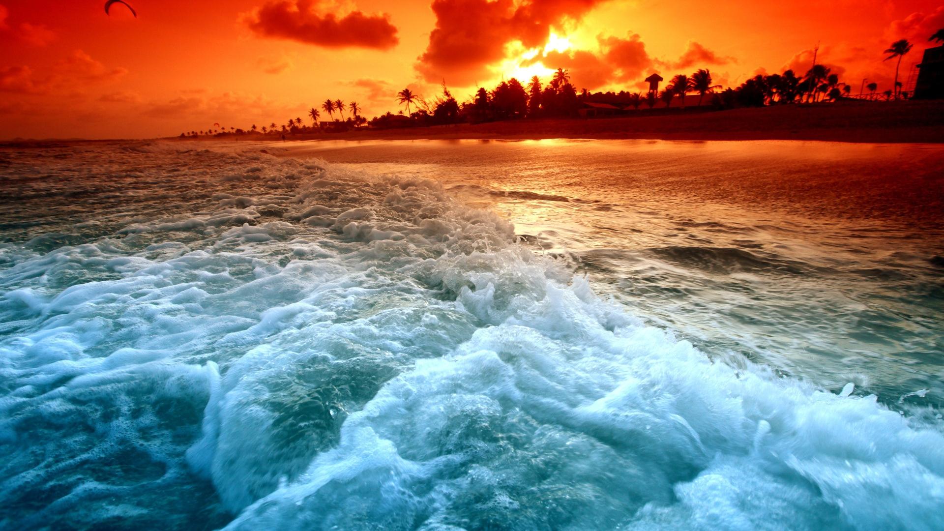 Download Wallpaper 3840x2400 Clouds, Decline, Evening, Sky, Orange ...