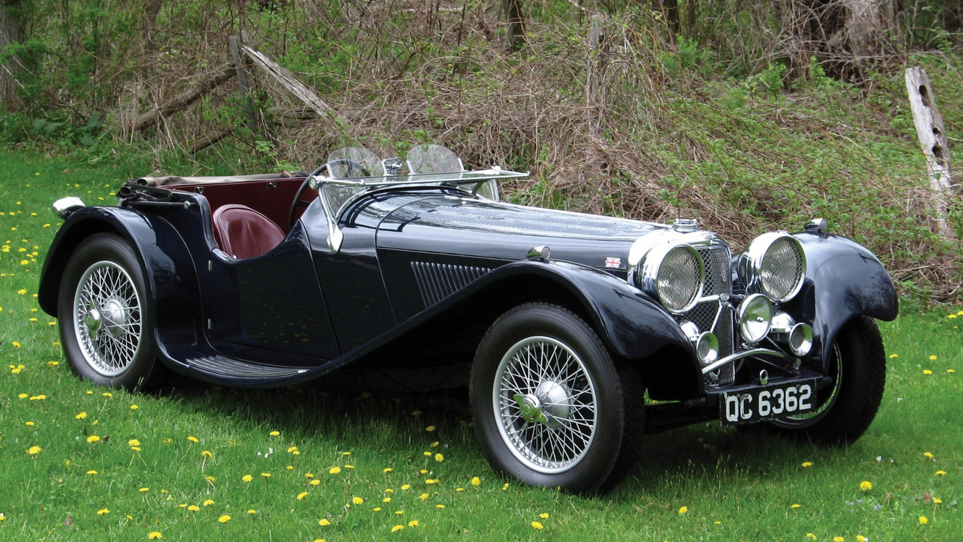 Download Wallpaper 1920x1080 jaguar, sport car, vintage car Full HD ...