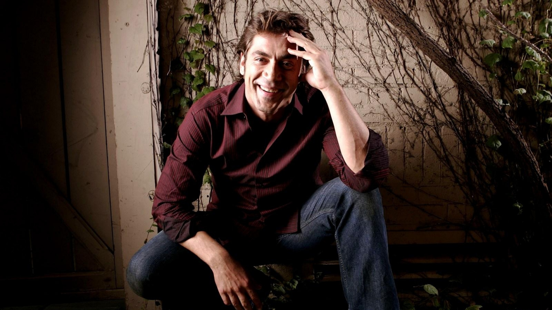Download Wallpaper 1920x1080 Javier Bardem, Brunette, Man