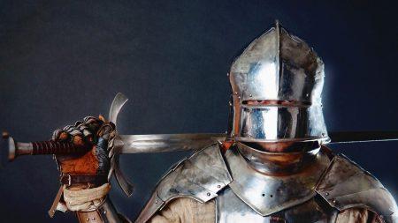 knight, armor, sword