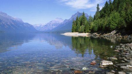 lake, stones, coast