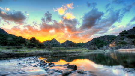 landscape, usa, river