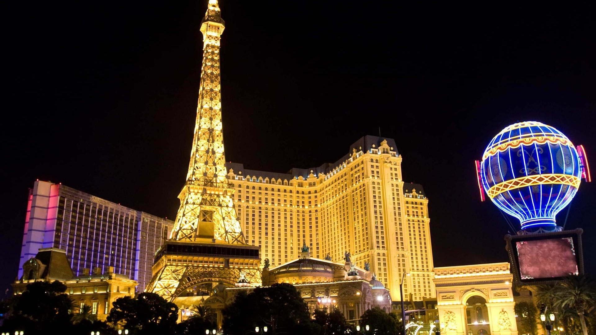Download Wallpaper 1920x1080 Las Vegas Buildings Night