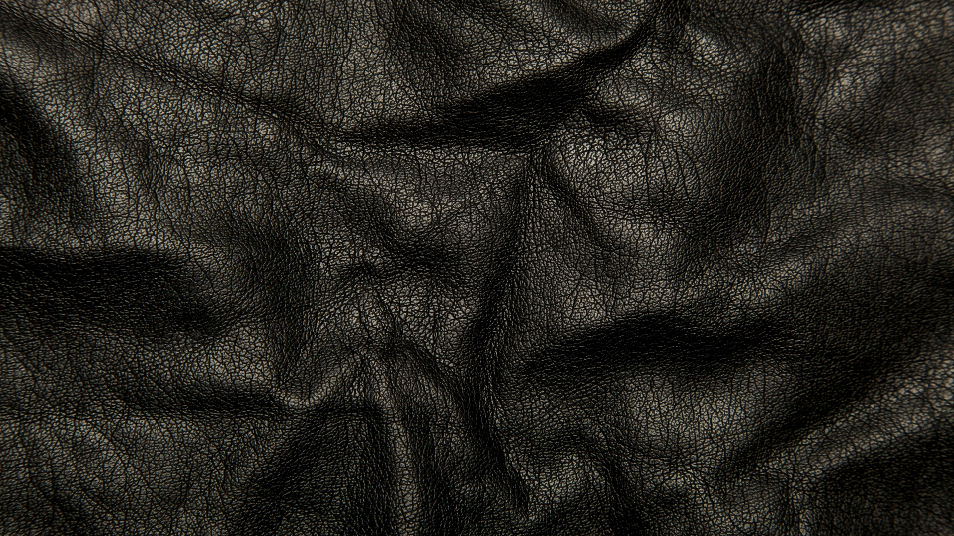 Download Wallpaper 1920x1080 Leather Black Background Texture