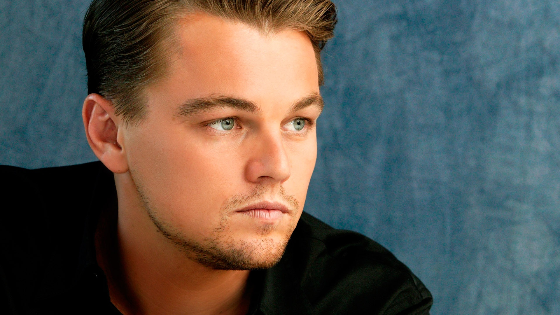 download wallpaper 1920x1080 leonardo dicaprio, man, pensive, face