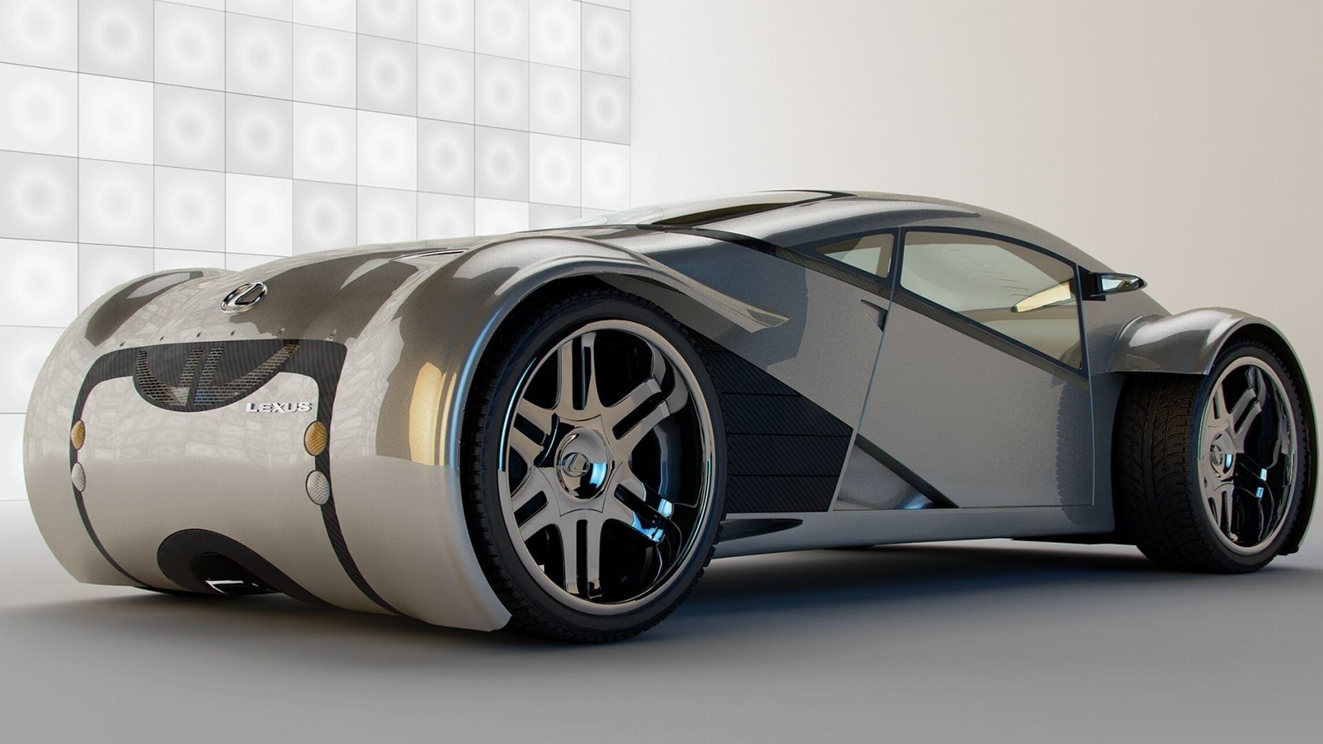 Download Wallpaper 1920x1080 Lexus New Model Sports Car Full Hd 1080p Hd Background