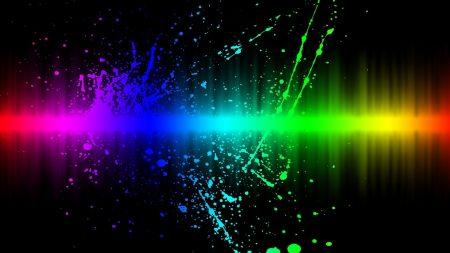line, paint, rainbow