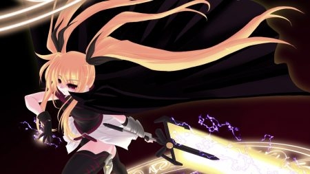 magical girl lyrical nanoha, girl, movement