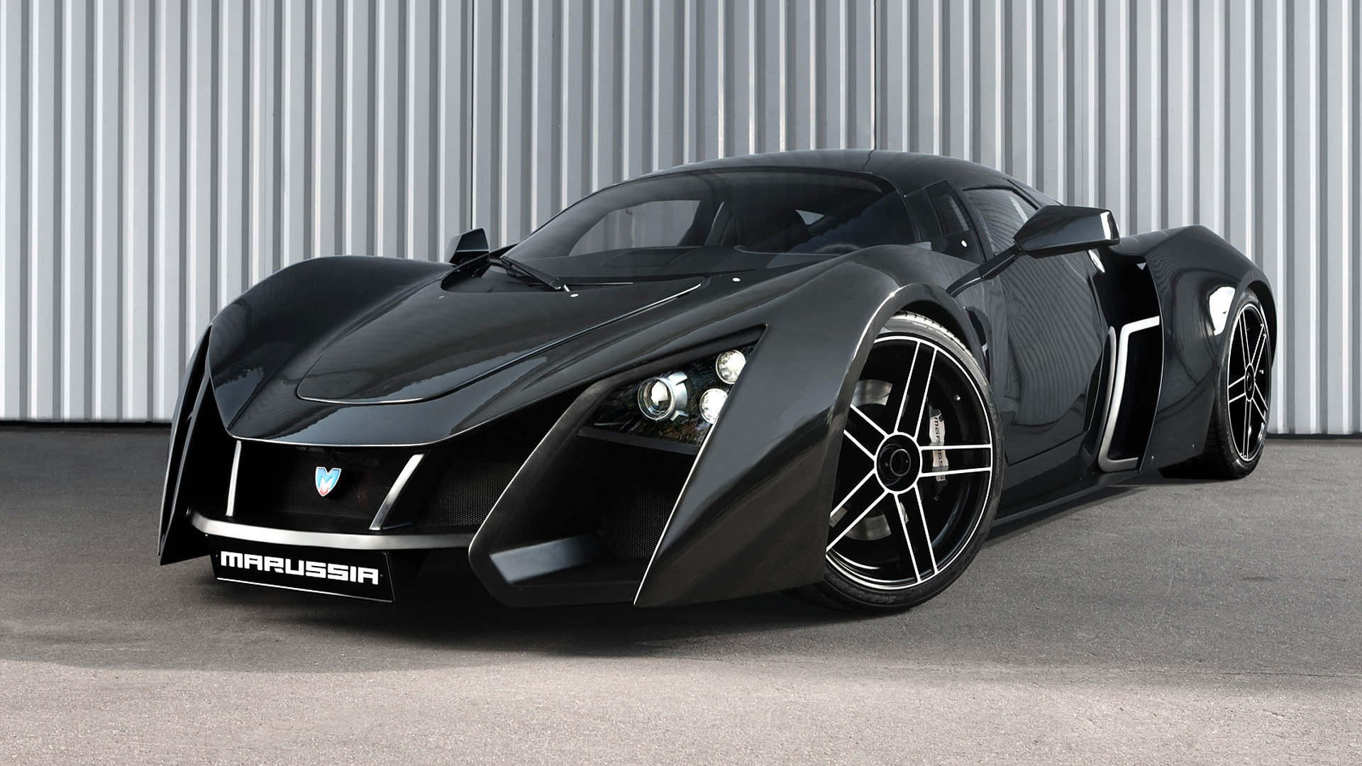 Charming Marussia, Sports Car, Black