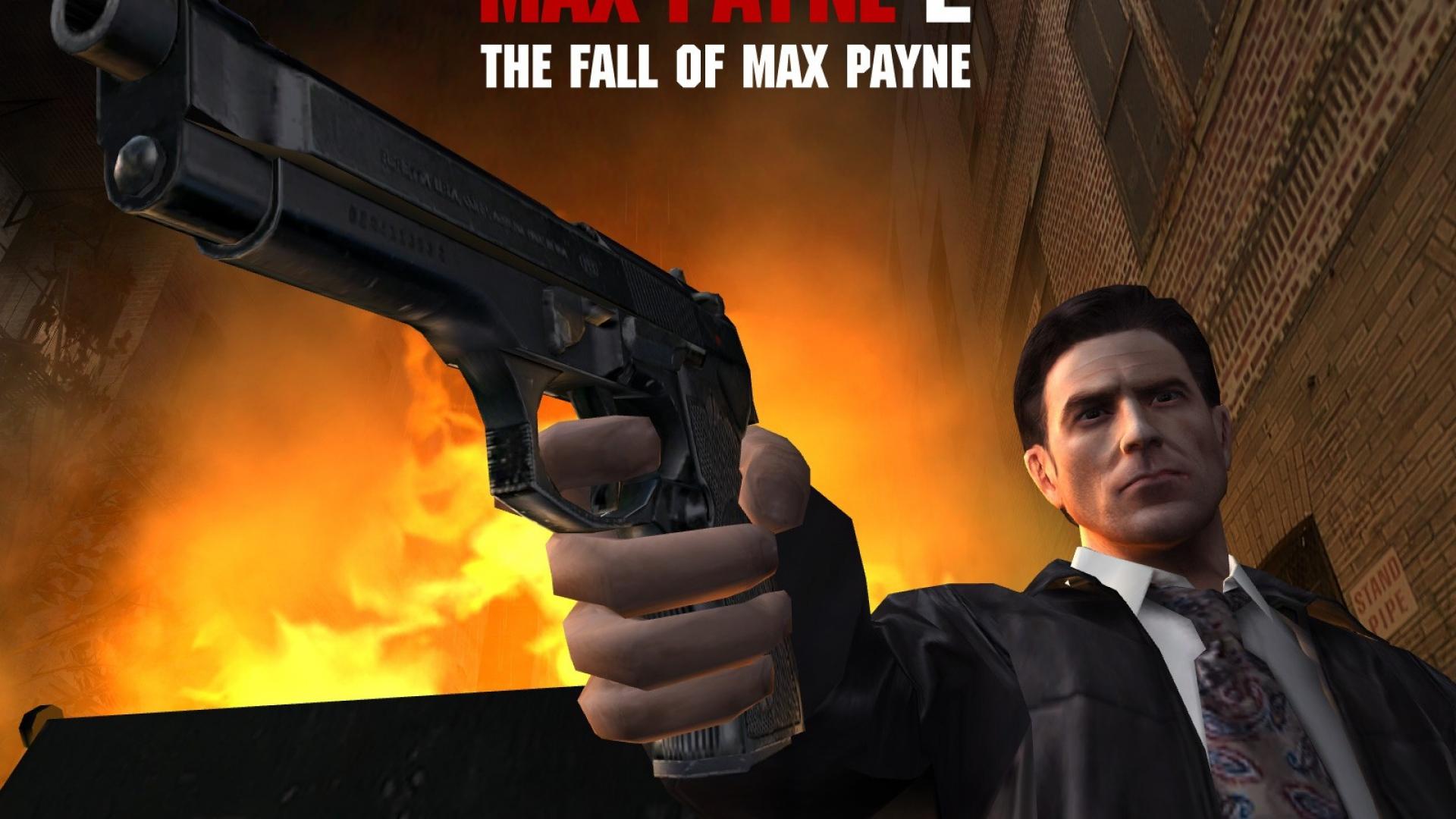 Beautiful Wallpaper Movie Max Payne - max_payne_2_the_fall_of_max_payne_pistol_fire_wildfire_house_16134_1920x1080  HD_152780.jpg
