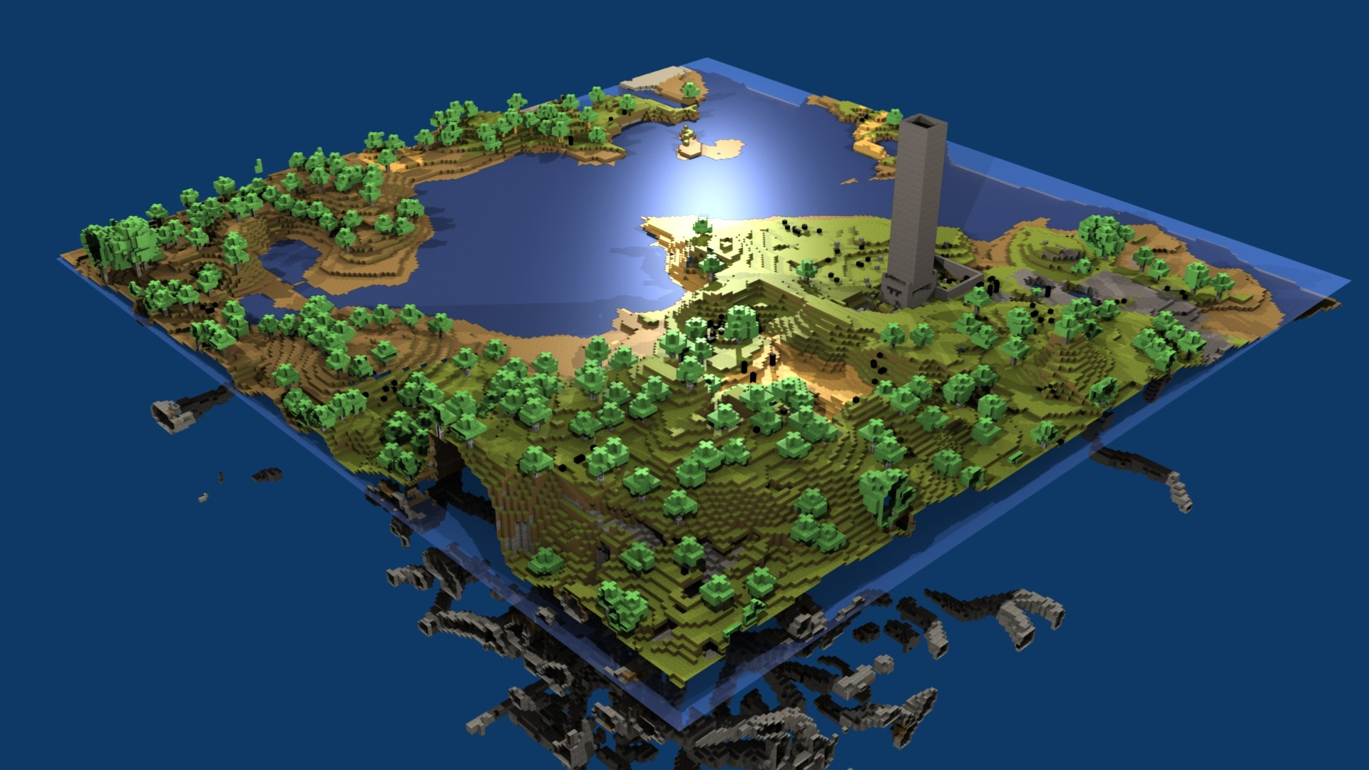 Must see Wallpaper Minecraft 1080p - minecraft_world_map_water_life_blocks_2227_1920x1080  HD_302281.jpg