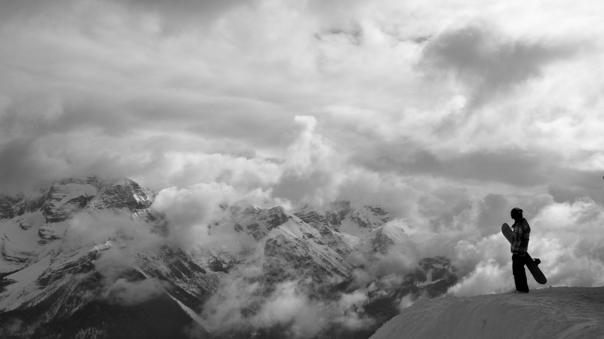 Download wallpaper 1920x1080 mountain snowboard top fog conquest mountain snowboard top voltagebd Image collections