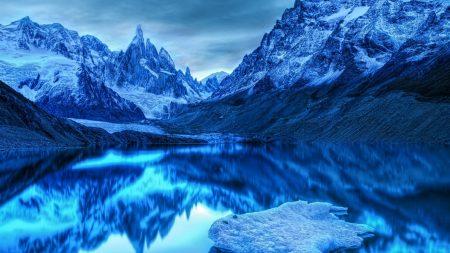 mountains, lake, reflection