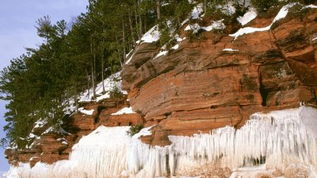 mountains, stones, snow