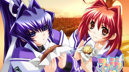 muv-luv, girls, food