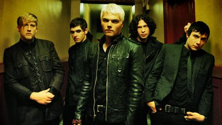 my chemical romance, corridor, blonde