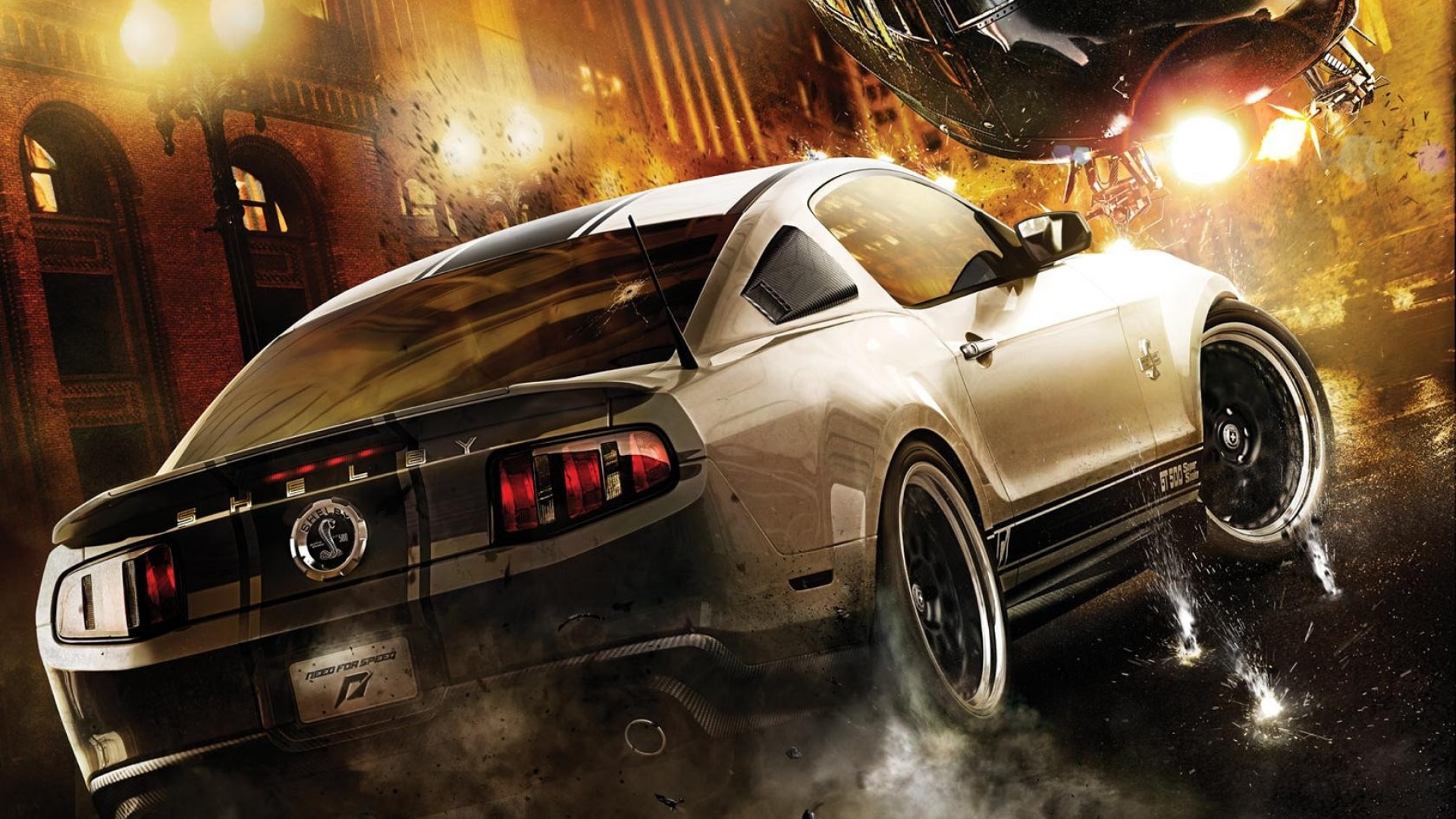 Download Wallpaper 1920x1080 Nfs Need For Speed Shelby Helicopter City Full HD 1080p Background