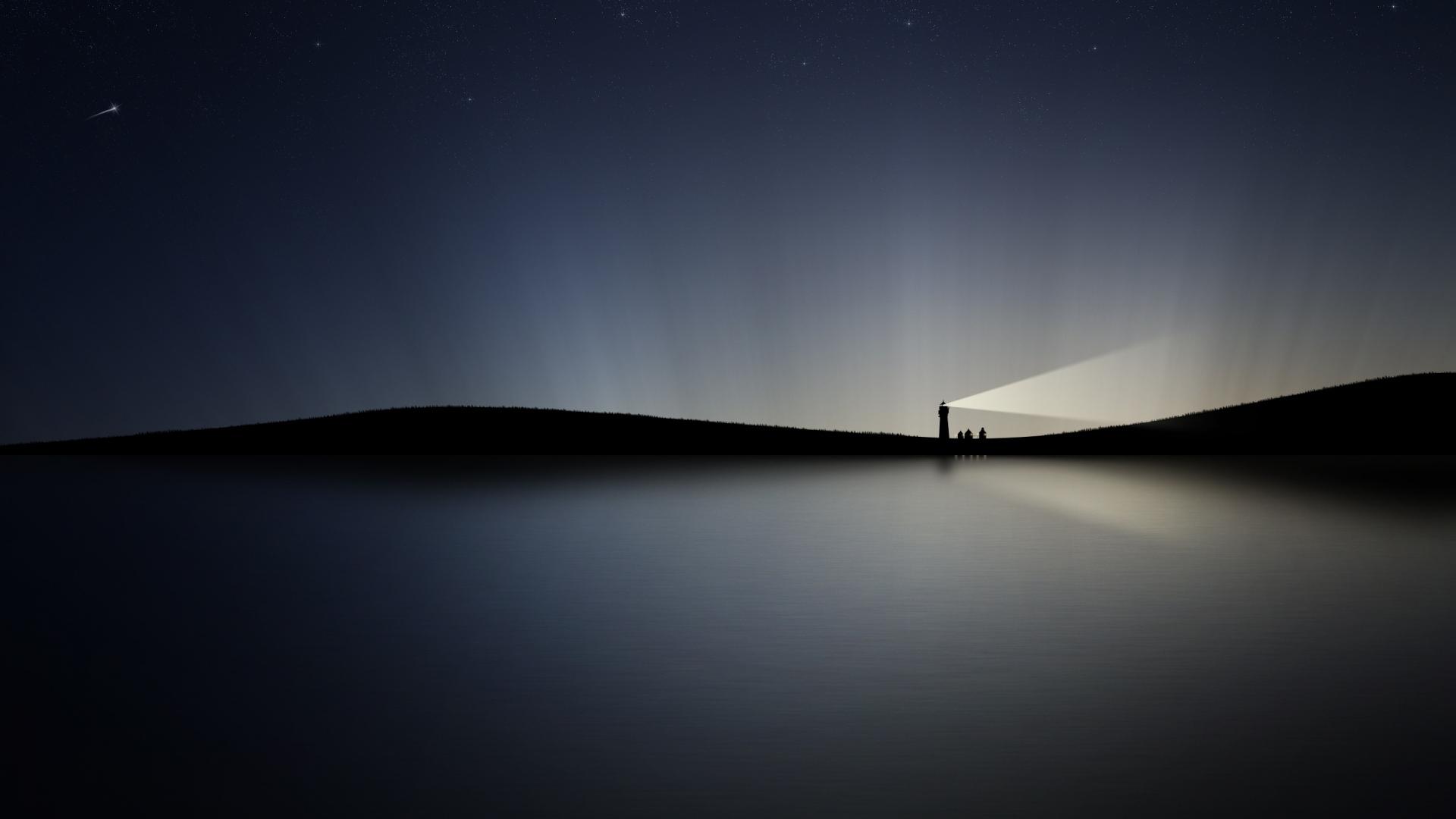 Must see Wallpaper Night Lighthouse - night_water_lighthouse_shining_74439_1920x1080  Snapshot-97428.jpg