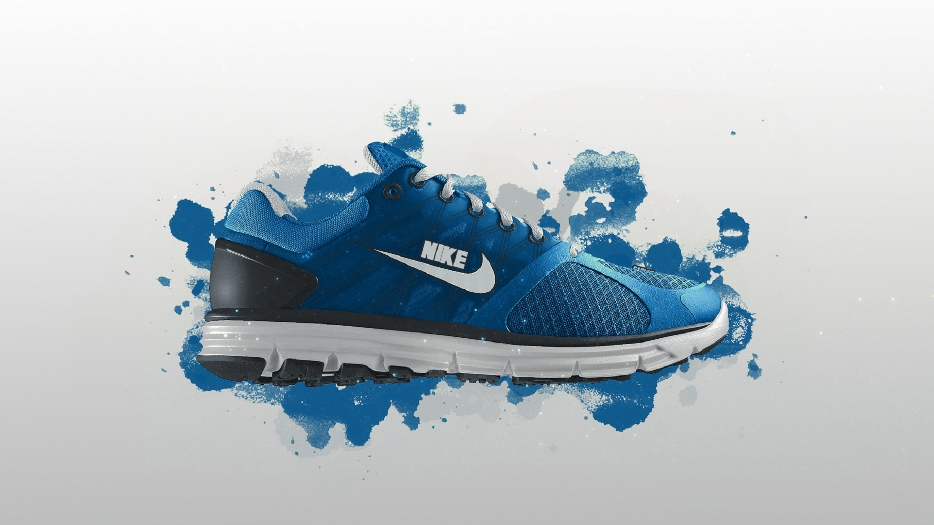 Download Wallpaper 1920x1080 Nike Shoes Sneakers Blue Sports