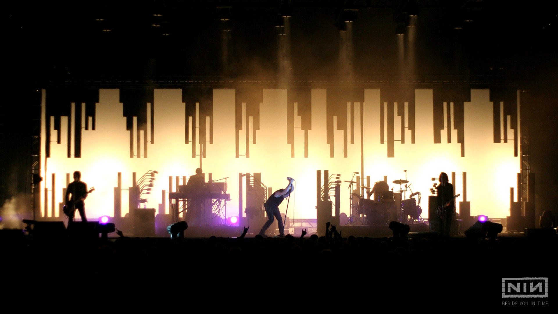 Download Wallpaper 1920x1080 nine inch nails, show, concert, members ...