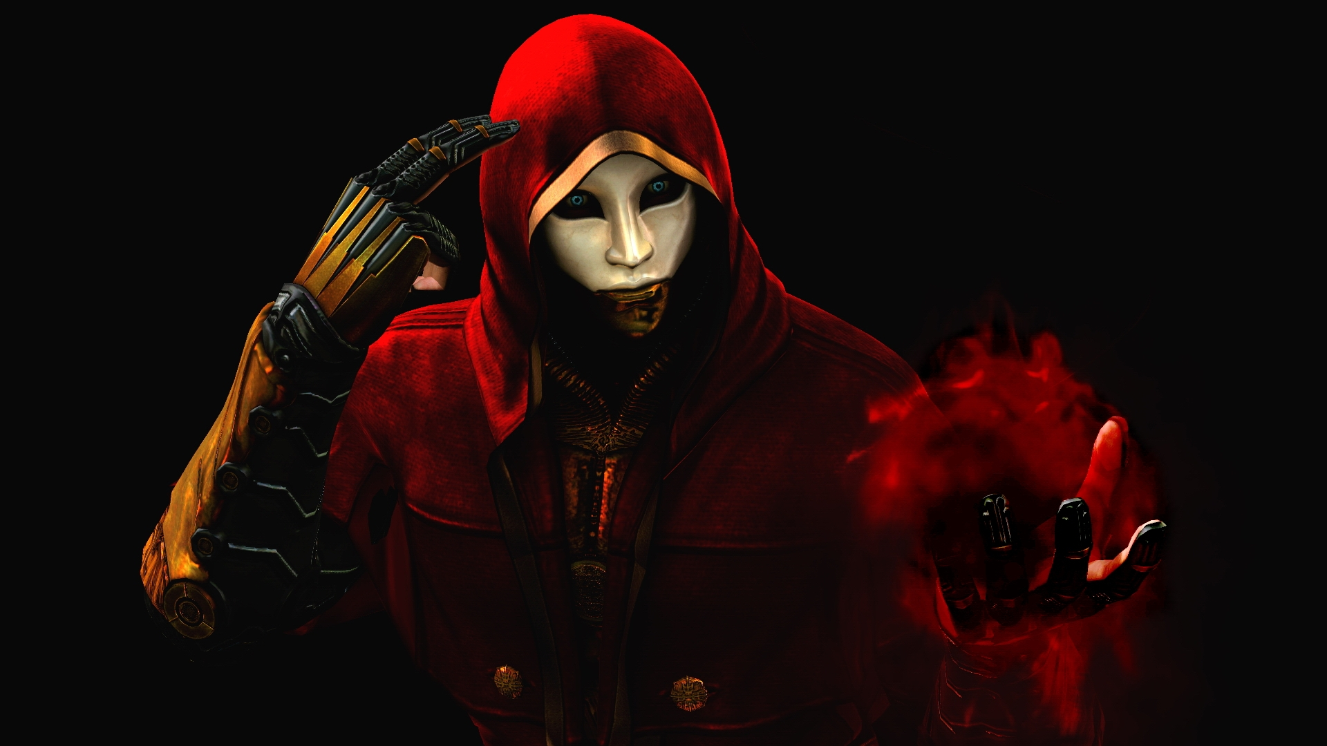 Fantasy Art Ninja Mask Wallpapers Hd Desktop And: Download Wallpaper 1920x1080 Ninja Aiden, Magic, Hand