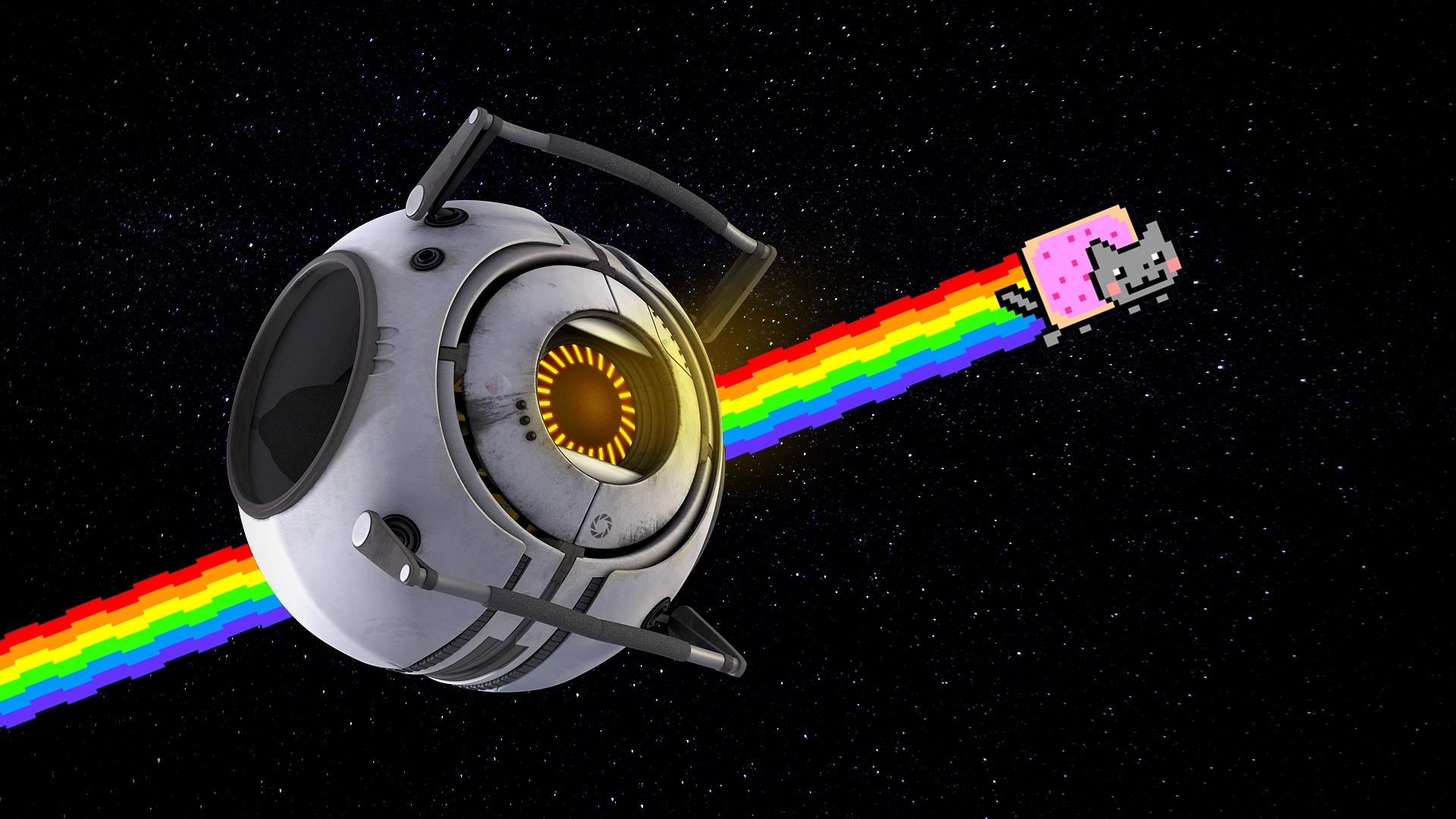 Nyan Cat Rainbow Positive