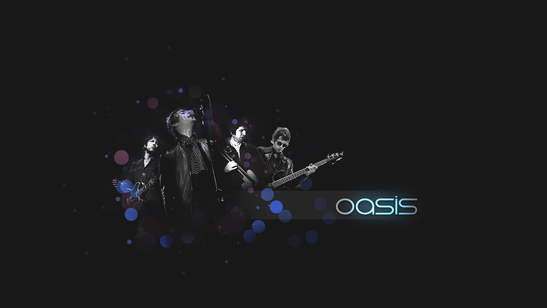 Download Wallpaper 1920x1080 oasis, band, members, sign ... Oasis Band Wallpaper