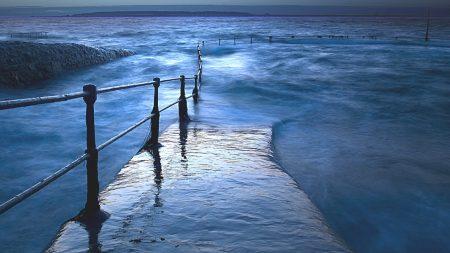 pier, water, sea
