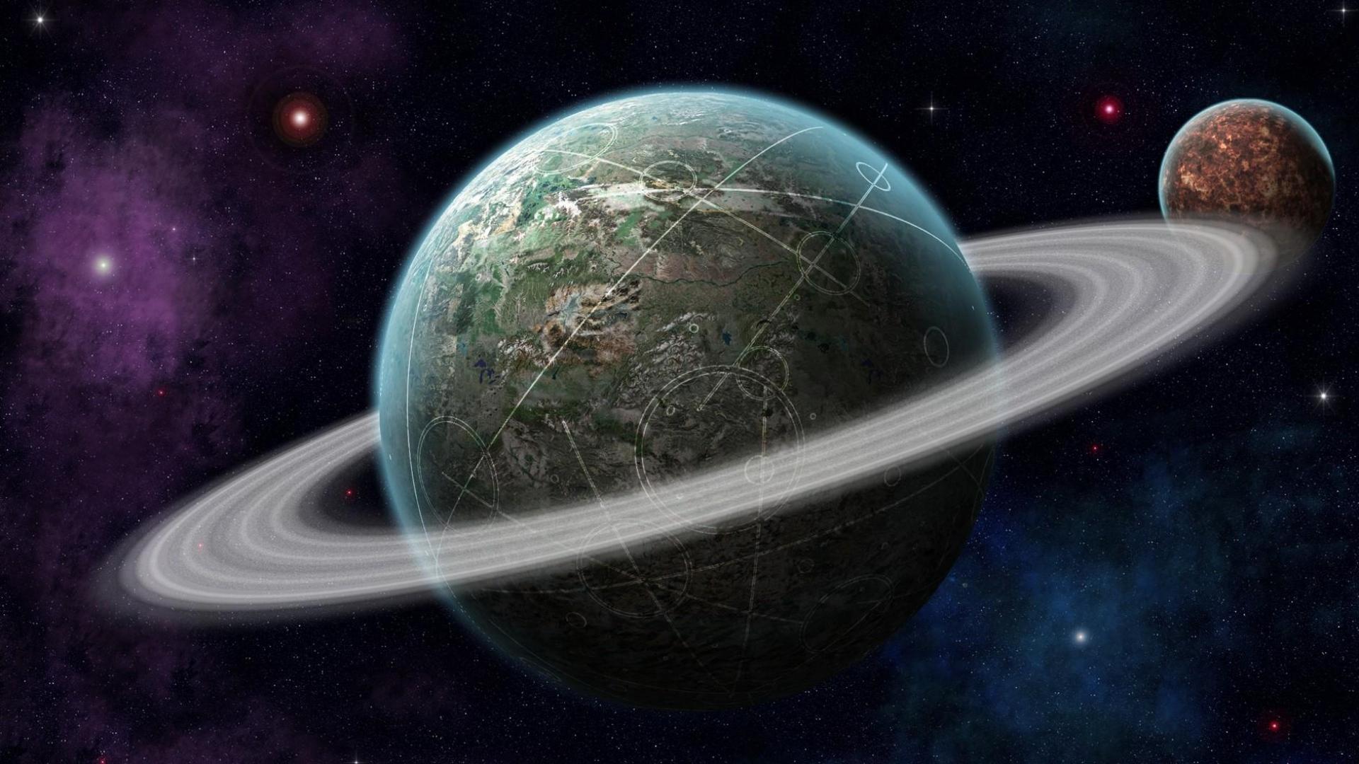 Download Wallpaper 1920x1080 Planet Universe Orbit Space Stars