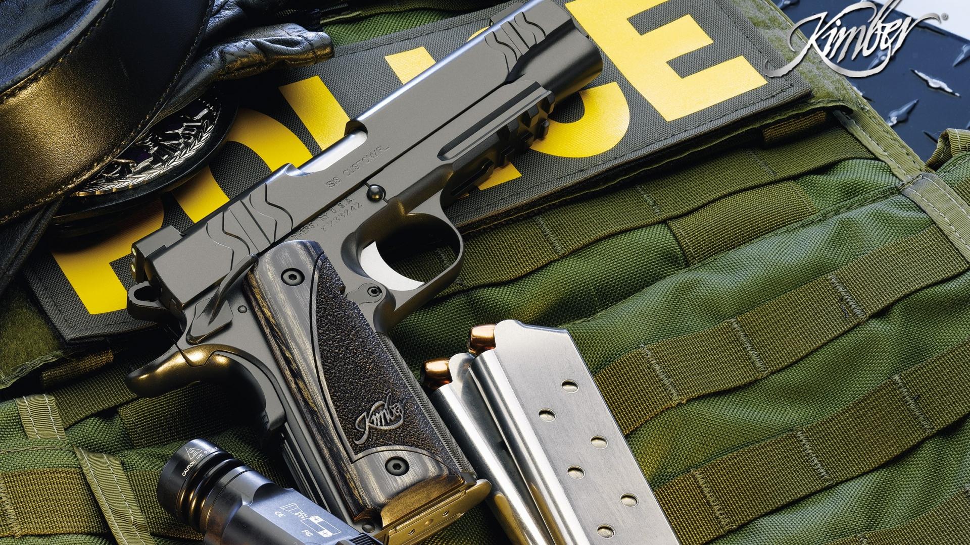 download wallpaper 1920x1080 police, guns, gun, knife, defense full