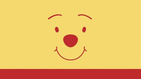pooh bear, face, drawing