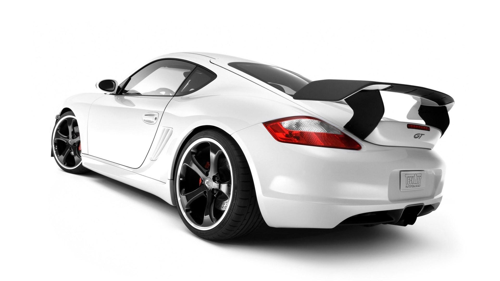 Download Wallpaper 1920x1080 Porsche White Auto Black Rear View