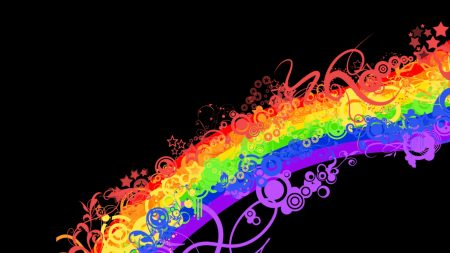 rainbow, colorful, background