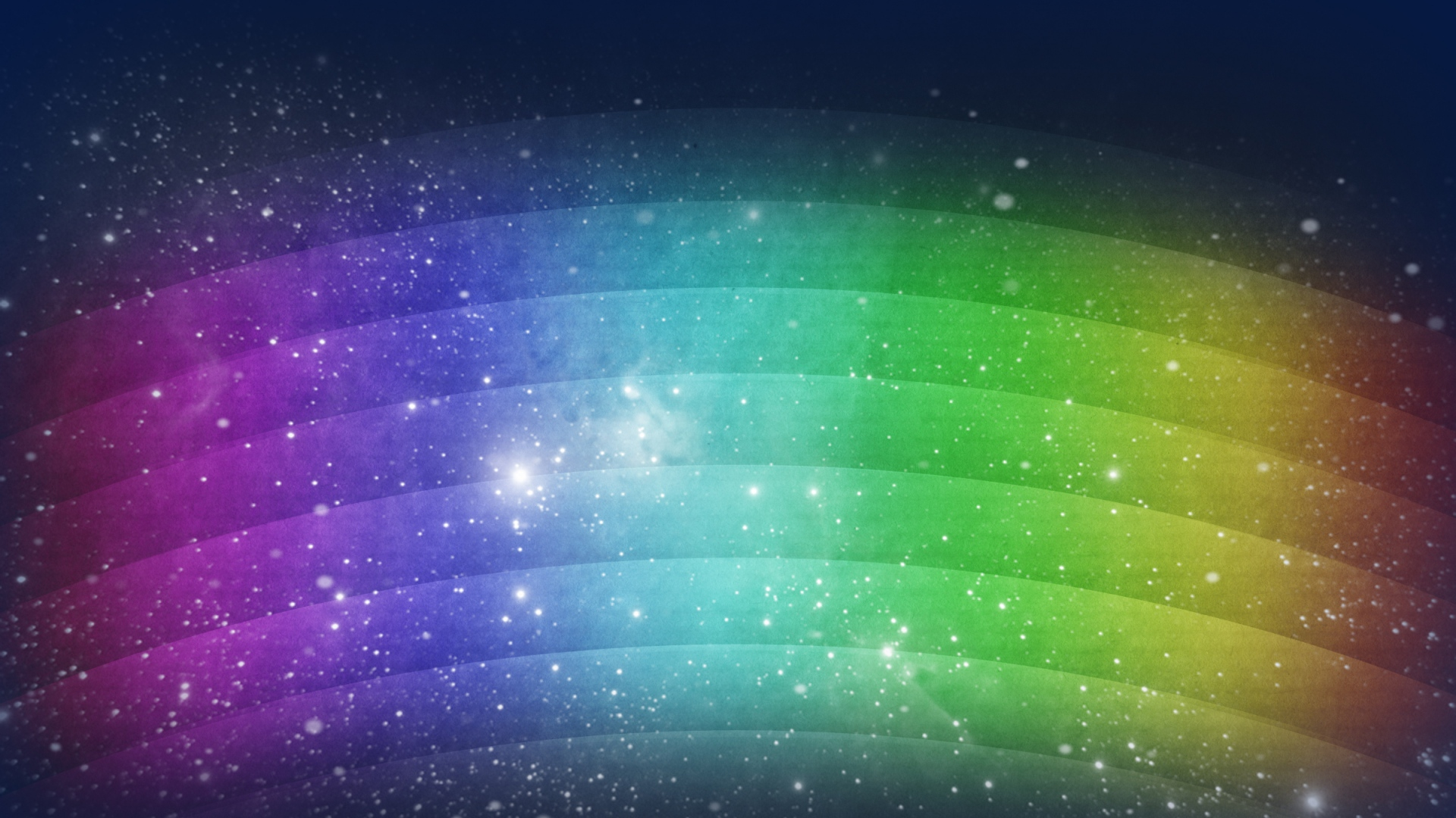 Download Wallpaper 1920x1080 Rainbow Wavy Background Lines Dots