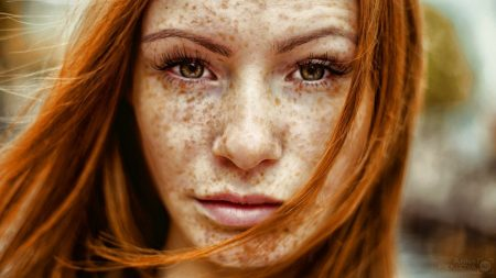 red, hair, freckles