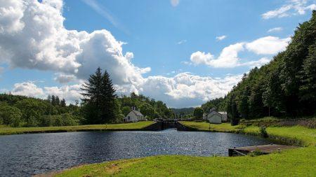 river, beautiful, summer landscape